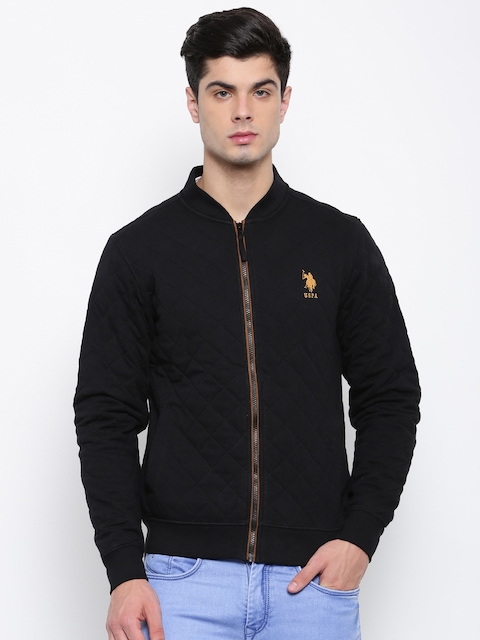 U.S. Polo Assn. Men Black Solid Tailored Jacket