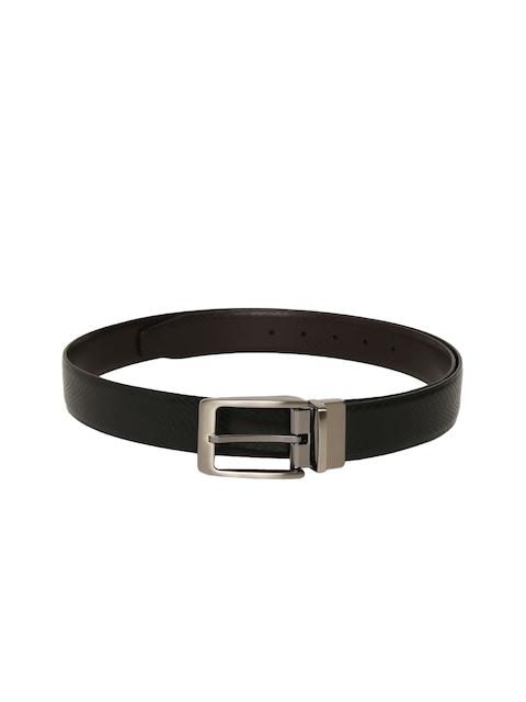 Peter England Men Black & Brown Reversible Textured Belt