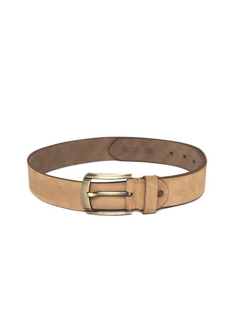 Peter England Men Brown Solid Genuine Leather Belt
