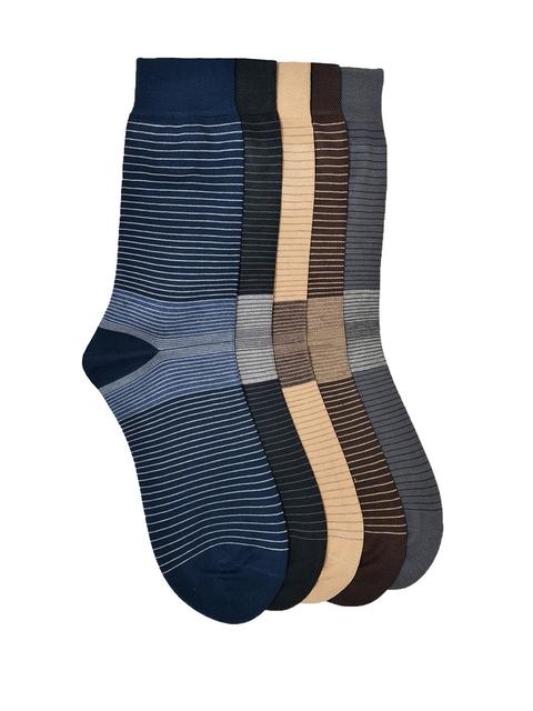 VINENZIA Men Pack of 5 Patterned Above Ankle Length Socks