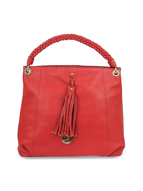 Da Milano Red Solid Handheld Bag