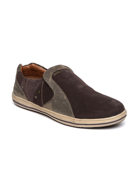 Woodland Men Brown Slip-On Sneakers  available at myntra for Rs.1536