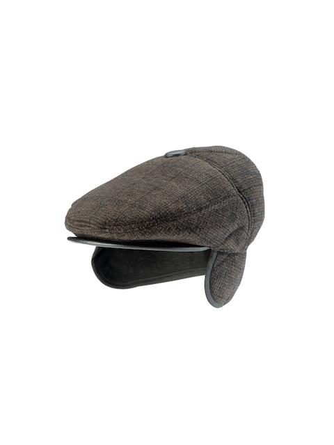 Alvaro Castagnino Men Black & Grey Checked Golf Cap