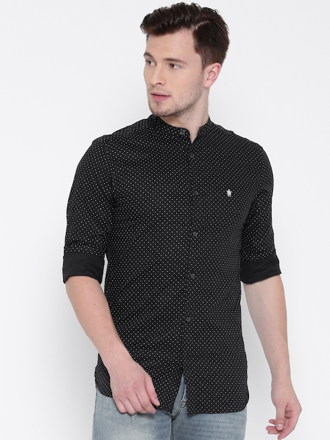 French Connection Men Black Printed Casual Shirt
