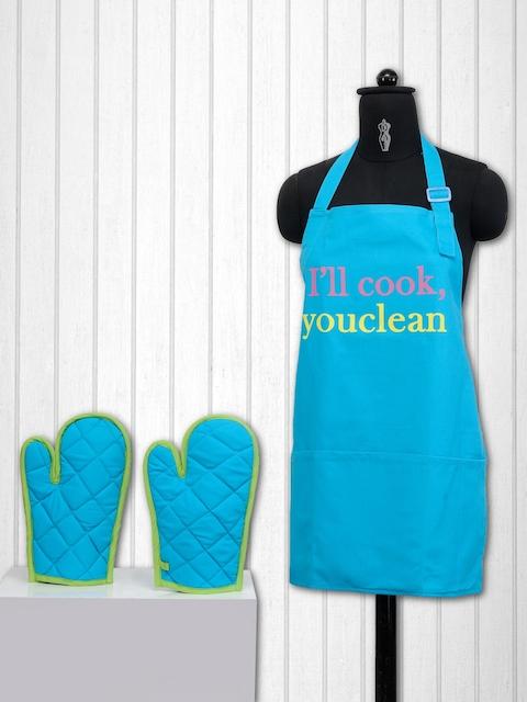 SWAYAM Blue Printed Kitchen Linen Set