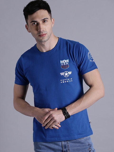 Kook N Keech Marvel Men Blue Printed T-shirt  available at myntra for Rs.239