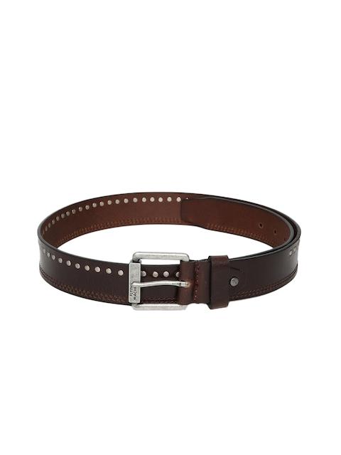 Flying Machine Men Brown Leather Belt