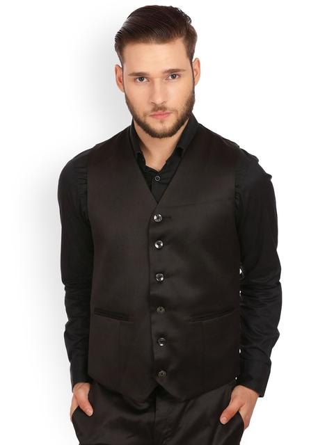 Wintage Men Black Waistcoat