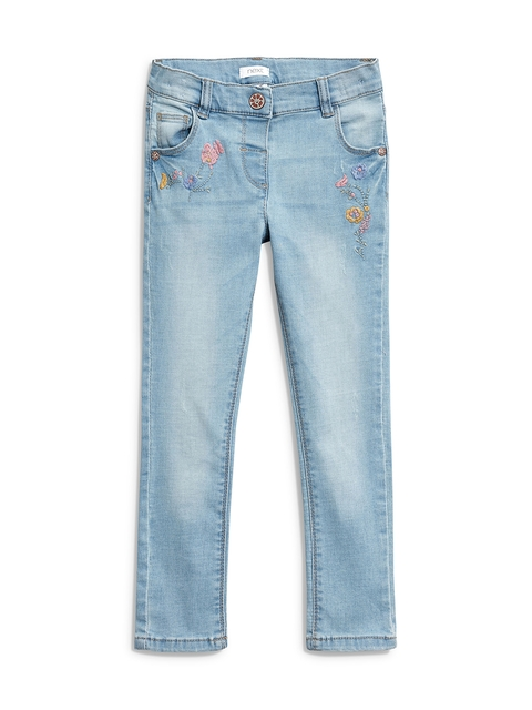 next Girls Blue Slim Fit Mid-Rise Clean Look Jeans