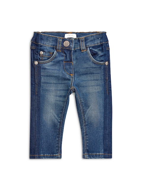 next Girls Blue Regular Fit Mid-Rise Clean Look Jeans