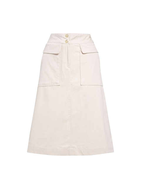 next Cream-Coloured A-Line Skirt