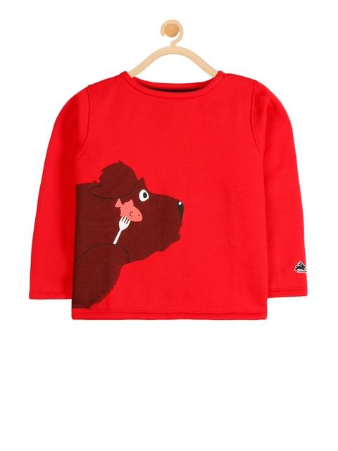 Cherry Crumble Unisex Red Solid Sweatshirt