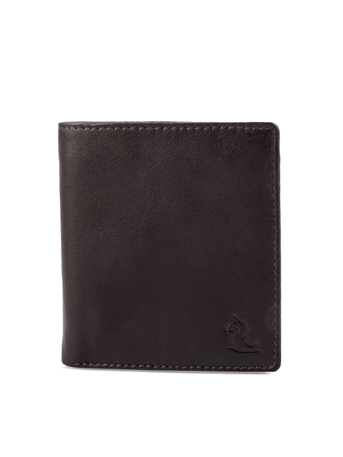 Kara Men Brown Solid Two Fold Wallet