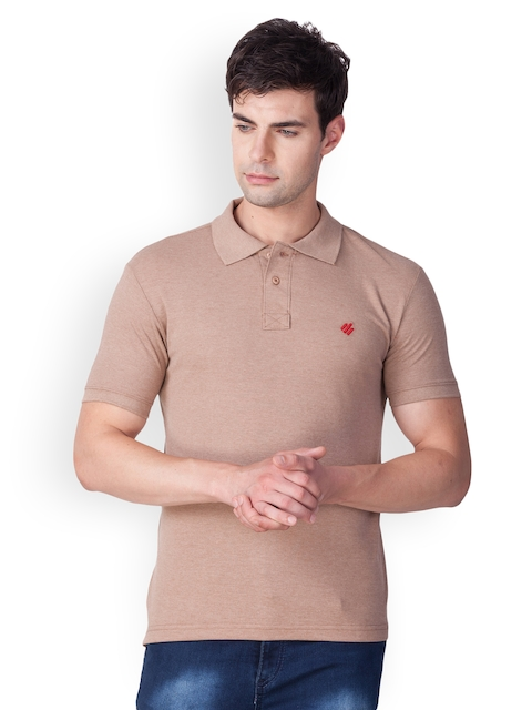 ONN Men Brown Solid Polo Collar T-shirt  available at myntra for Rs.359