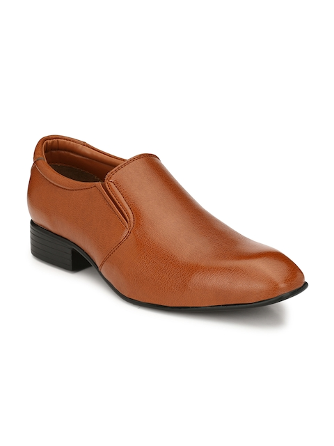 Guava Men Tan Brown Semi-Formal Slip-Ons