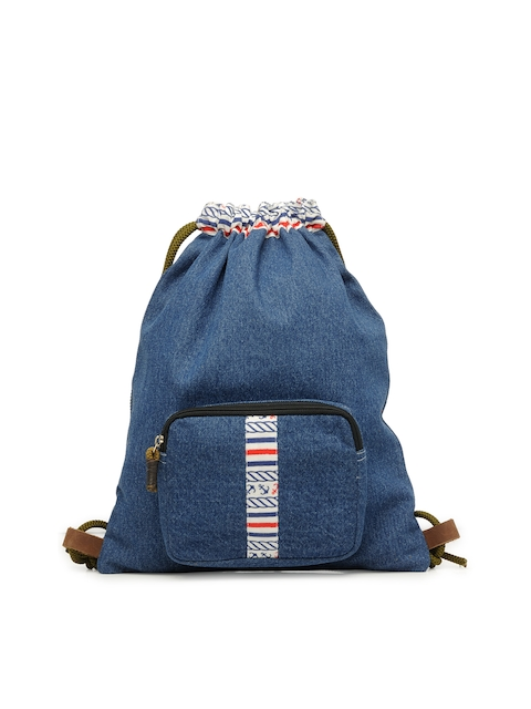 The House of Tara Unisex Blue Solid Backpack