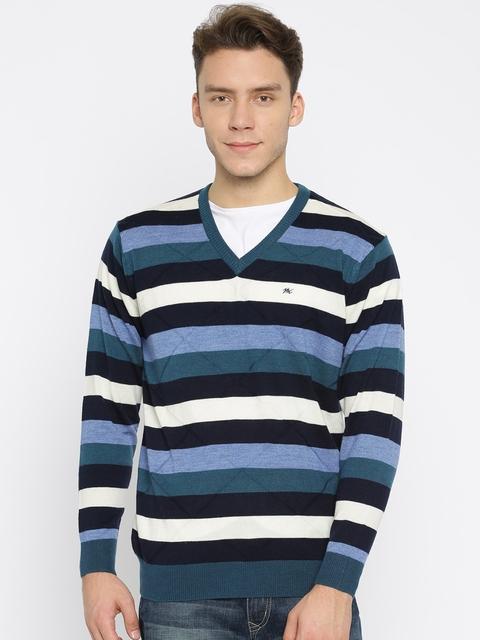 Monte Carlo Men Multicoloured Striped Pullover