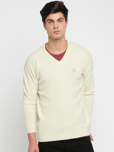 Monte Carlo Men Cream Solid Pullover