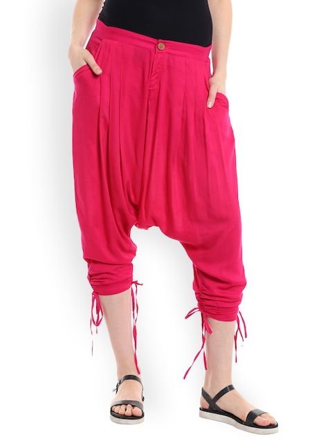 Desi Weaves Women Pink Jodhpuri Trousers  available at myntra for Rs.695