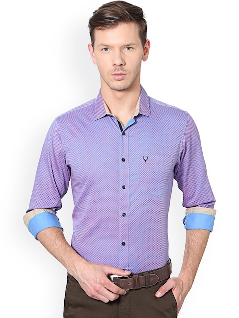Allen Solly Men Blue Slim Fit Printed Casual Shirt