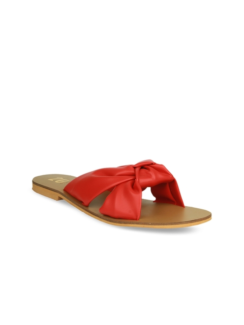 20Dresses Women Red Solid Open-Toe Flats