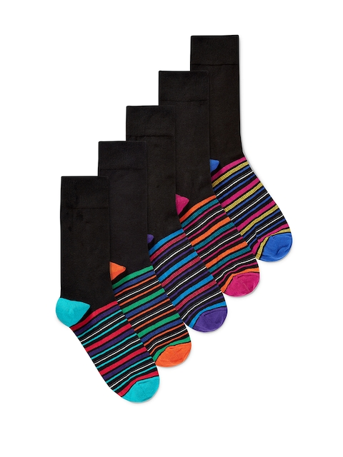 next Men Multicoloured Pack of 5 Striped Socks