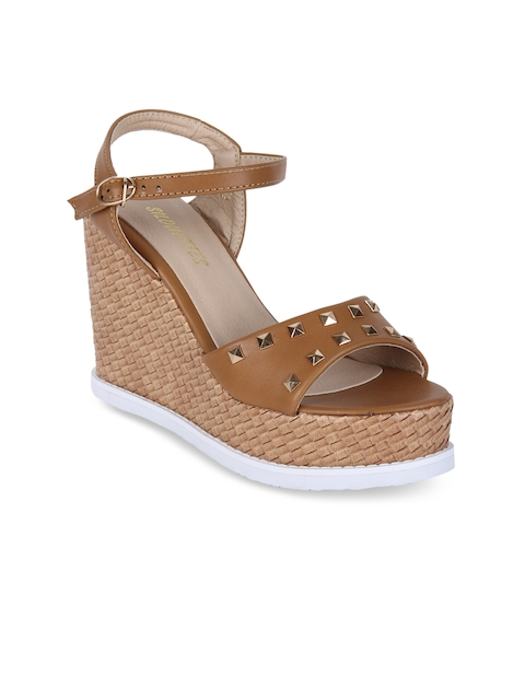 SILOUETTES Women Brown Solid Wedges