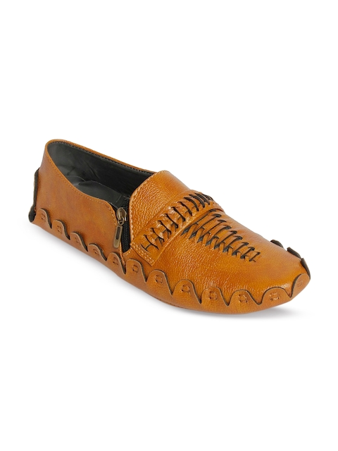 bacca bucci Men Tan Brown Loafers