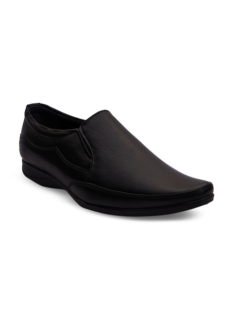 bacca bucci Men Black Leather Formal Shoes