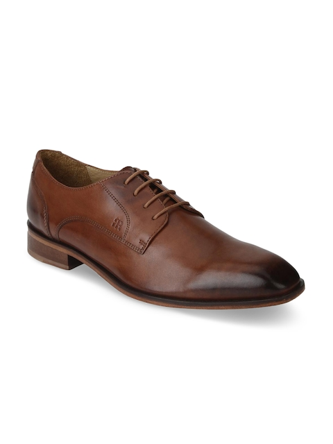 Raymond Men Brown Leather Derbys