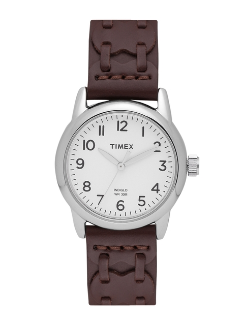Timex Women Off-White Analogue Watch T2N902