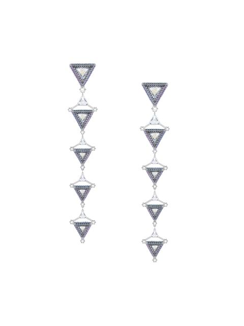 SWAROVSKI Hologram Pierced Earrings