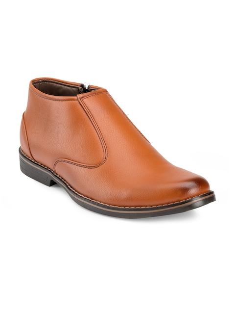 Escaro Men Tan Brown Semiformal Boots