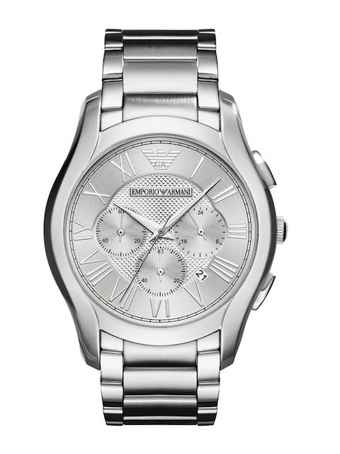 Emporio Armani Men Silver-Toned Chronograph Watch AR11081I