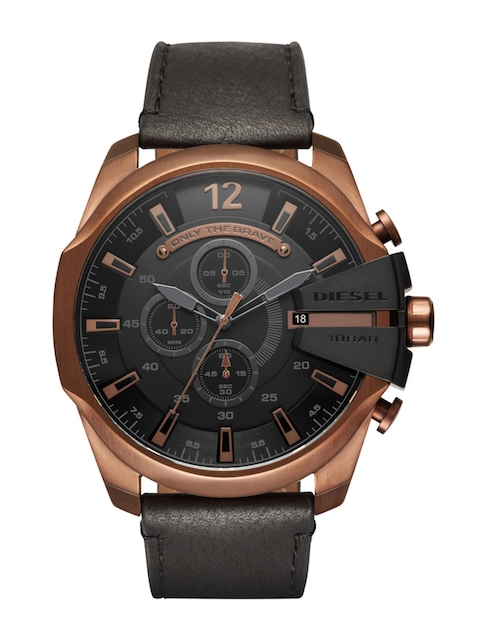 DIESEL Men Gunmetal-Toned Chronograph Watch DZ4459I
