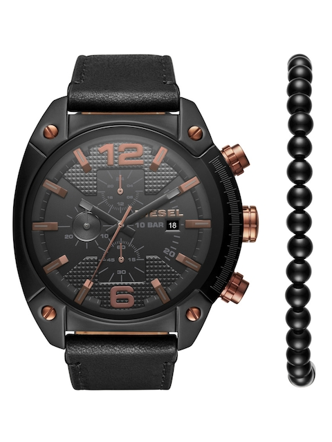 DIESEL Men Gunmetal-Toned Chronograph Watch DZ4462