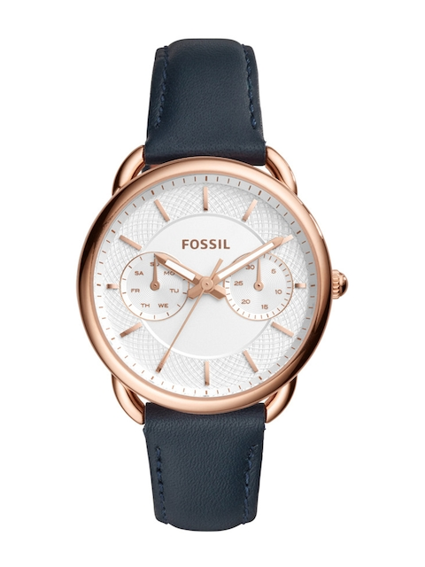 Fossil Women Silver-Toned Chronograph Watch ES4260I