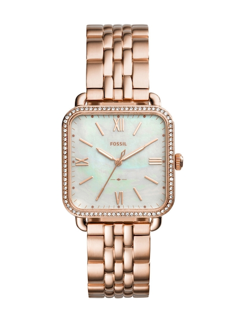 Fossil Women Gold-Toned Analogue Watch ES4269I