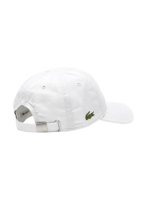 Lacoste Men White Gabardine Cap