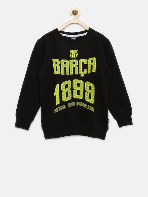 FC Barcelona Boys Black Printed Sweatshirt