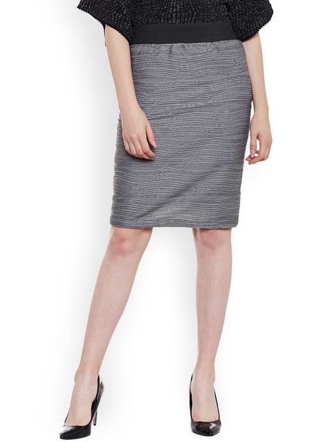 Latin Quarters Grey Pencil Skirt
