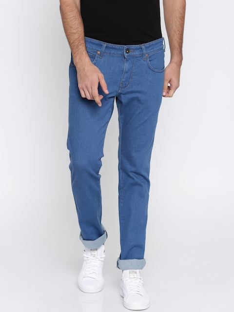 Wrangler Men Blue Slim Fit Low-Rise Clean Look Stretchable Jeans  available at myntra for Rs.1247