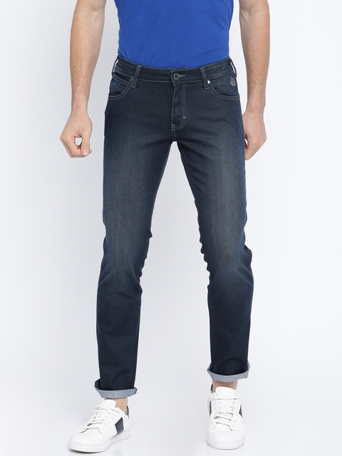 Wrangler Men Blue Slim Fit Low-Rise Clean Look Stretchable Jeans  available at myntra for Rs.1212