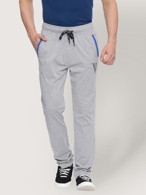 Van Heusen Grey Melange Track Pants