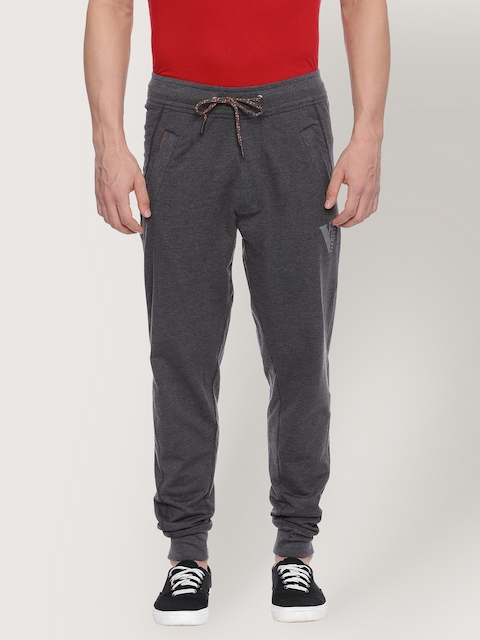 Van Heusen Charcoal Grey Men Track Pants