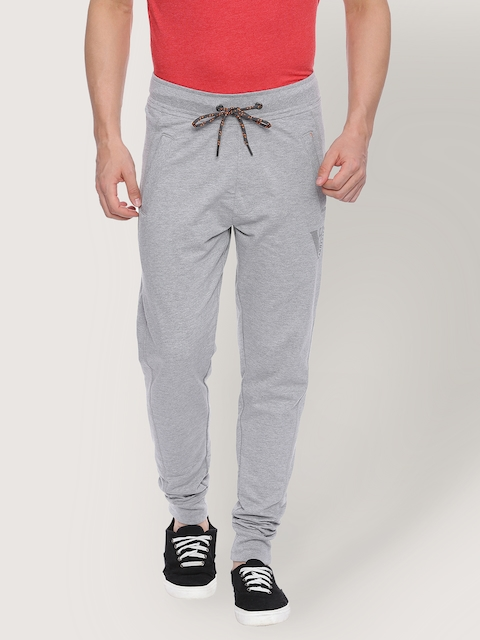 Van Heusen Grey Melange Men Track Pants