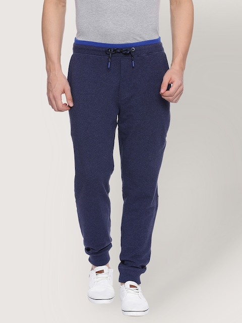 Van Heusen Navy Blue Men Track Pants