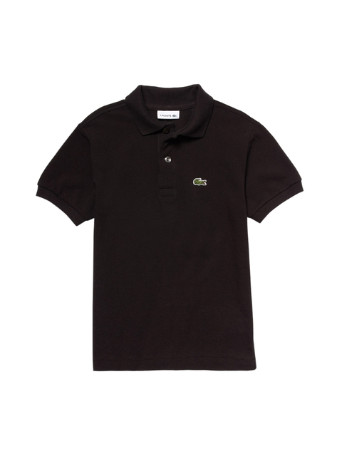 Lacoste Boys Black Solid Petit Pique Polo