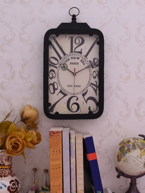 Home Sparkle Off-White Dial Analogue 37.5 cm x 20 cm Wall Clock