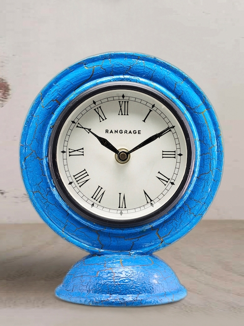 RANGRAGE White Dial Analogue 15.4 cm Handcrafted Table Clock